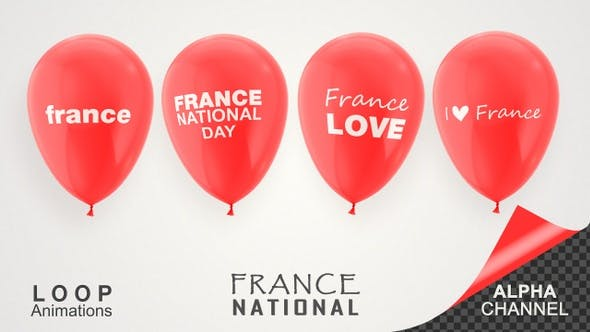 Thumbnail for France National Day Celebration Balloons