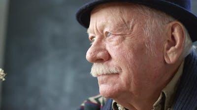 Portrait of Elderly Man with Mustache