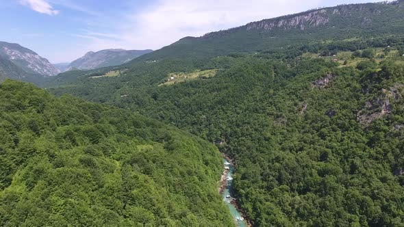 Thumbnail for Aerial View of Tara River in Northern Montenegro
