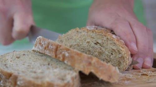 Slice the bread. S