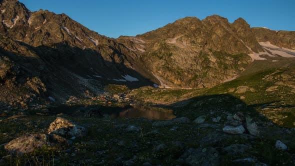 Thumbnail for Sun Rising in Mountains, Time-Lapse, Beautiful Lake Scenery