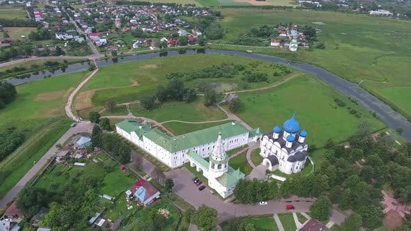 Thumbnail for Aerial Top View on Kremlin in Suzdal Russia