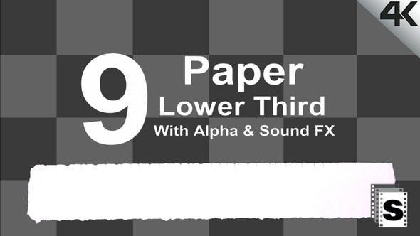 Paper Lower Third