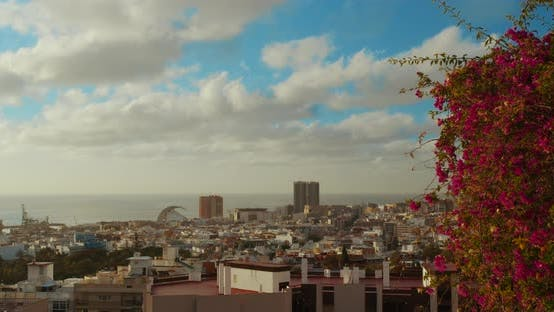 Thumbnail for Timelapse. City of Santa Cruz De Tenerife. The Capital of the Canary Islands in Spain. A City By the