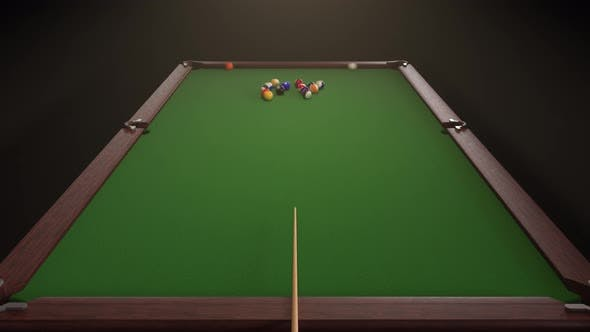 Starting Shot of a Billiard Game