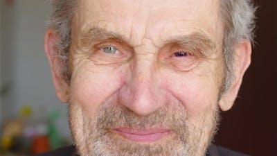 Close Up Portrait of Old Man