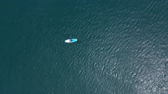 Sup Board in Sea