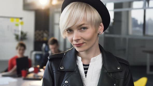 Thumbnail for Portrait of a Business Woman in Casual Clothes Smiling While
