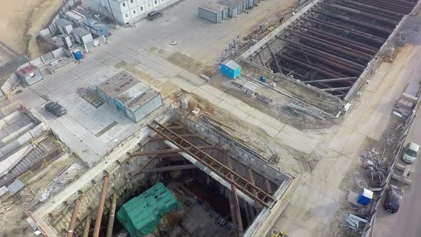 Thumbnail for Aerial Shot of Subway Construction in Moscow, Russia