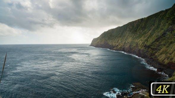 Atlantic Ocean Coastline from Azores Islands
