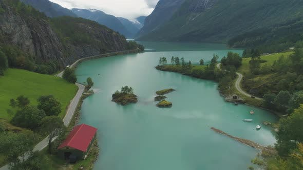 Thumbnail for Turquoise Lovatnet Lake. Beautiful Landscape of Norway
