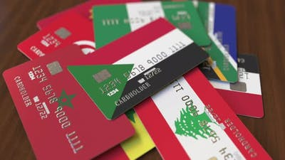 Emphasized Bank Card with Flag of Sudan