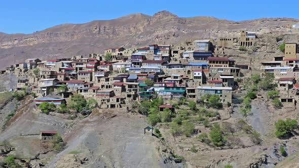 Mountain Village Chokh in The Republic of Dagestan, Russia