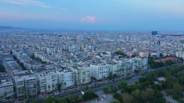 Cover Image for Aerial View Antalya City At Sunset