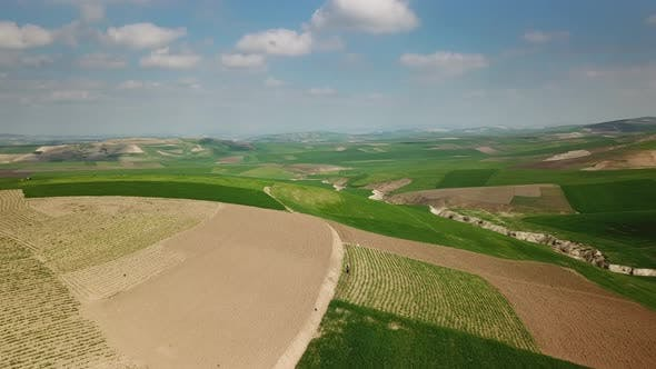 Thumbnail for Aerial of Hilly Agricultural Fields in Morocco