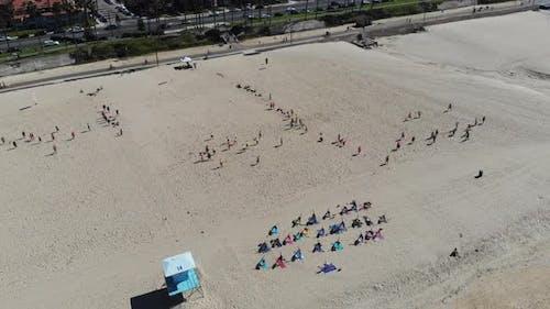 Beach Football Aerial Parallax 4 K