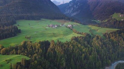 Aerial View of Austrian Landscape