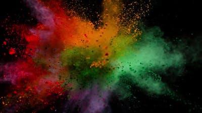 Multicolor Powder Explosion