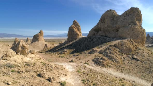 Thumbnail for The Unusual Landscape with Tufa Spires Rising From the Bed of the Searles Dry Lake Basin