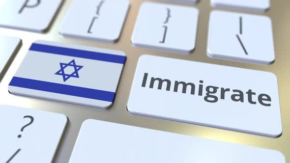 Thumbnail for IMMIGRATE Text and Flag of Israel on Keyboard