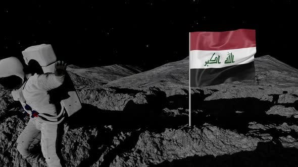 Thumbnail for Astronaut Planting Iraq Flag on the Moon