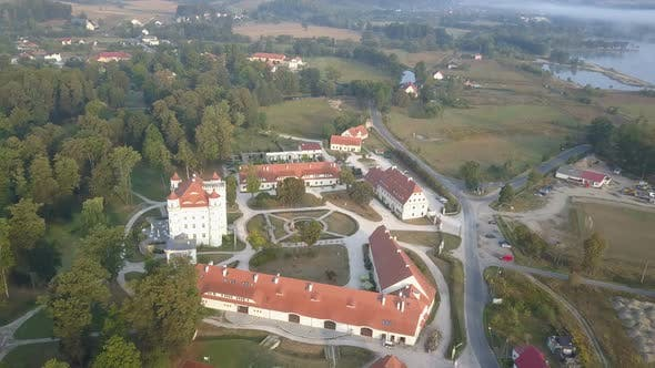 Thumbnail for Aerial View of Medieval Palace in Western Europe, Wojanow, Poland