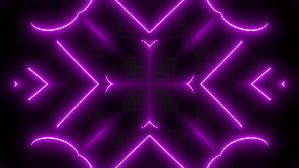 4k Pink Neon Abstract Shapes Vj Pack