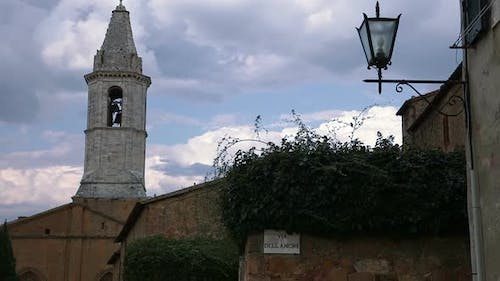 Bell Tower and the Clouds in the Sky
