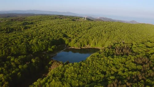 Aerial view of the Aspromonte mountains. Calabria Italy