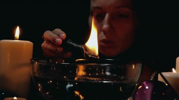 Thumbnail for Black ritual with candle