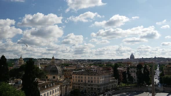 Thumbnail for Time lapse from Piazza del Popolo in Rome