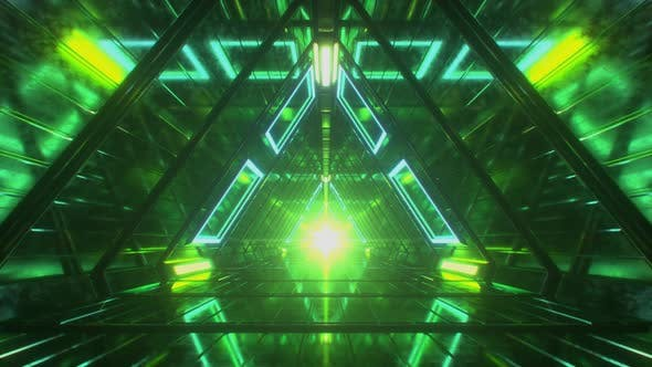 Thumbnail for Abstract Endless Flight in a Futuristic Metal Corridor