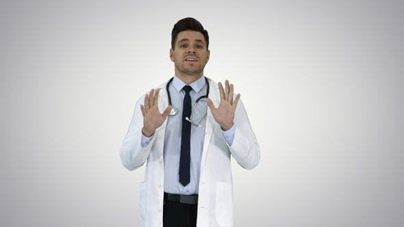 Thumbnail for Friendly and playful male doctor and confident talking