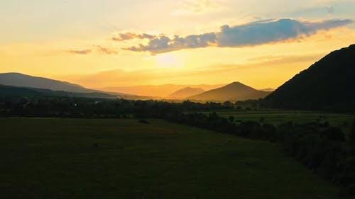 Sundown in Highlands