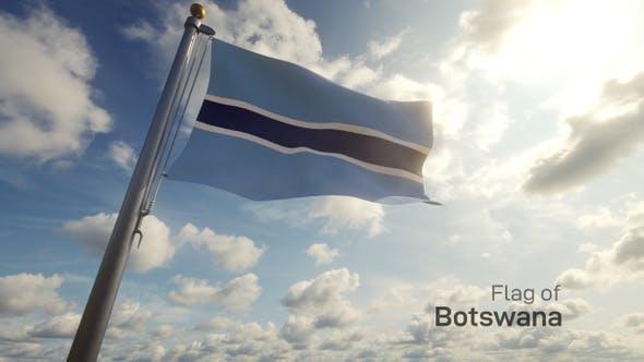 Thumbnail for Botswana Flag on a Flagpole