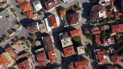 Aaerial Top View of Houses in City Suburb