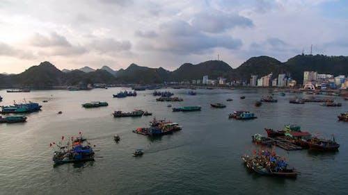 Cat Ba Island Landscape Ha Long Bay, Vietnam