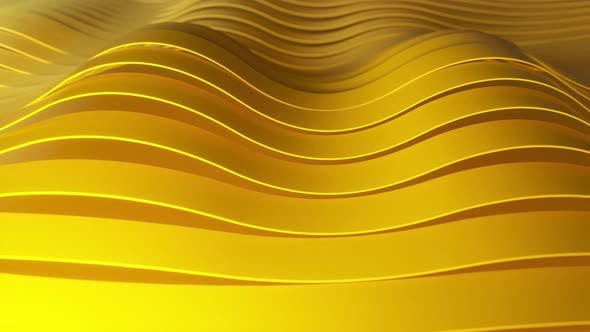 Background of Rows of Multicolored Popup Yellow Stripes