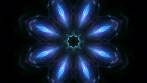Ice Fractal Flower Energy 4K Loop