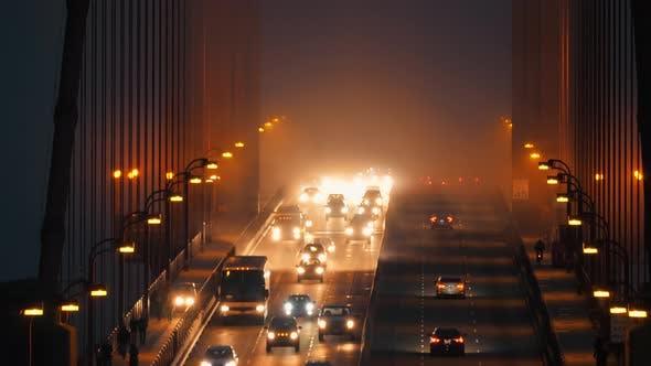 Thumbnail for Golden Gate Traffic at Night