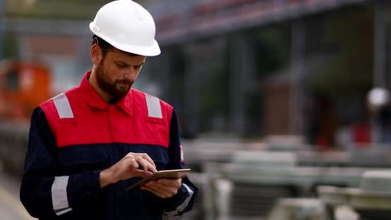 Thumbnail for Construction Engineer Using Tablet