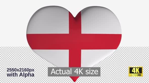 Thumbnail for England Flag Heart Spinning