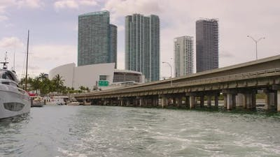 The American Airlines Arena in Miami