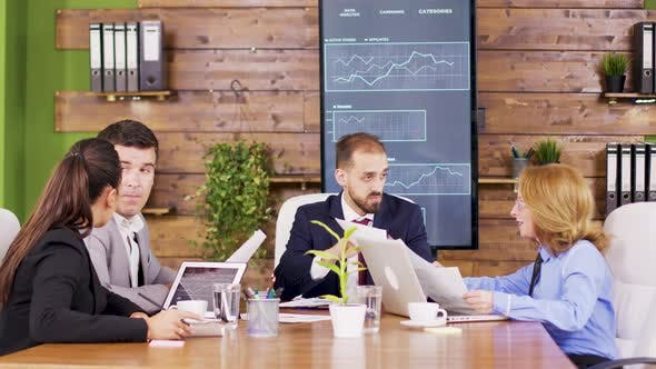 Thumbnail for Corporate Business Meeting in Modern Meeting Room