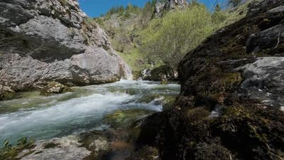 Fast Mountain River