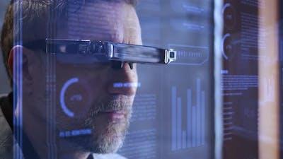 Man Taking on Vr Glasses
