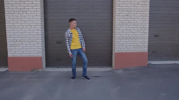 Happy Man Dancing in the Street
