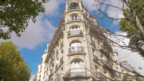 Thumbnail for House Baroque Exterior and Autumn Trees in Paris, France