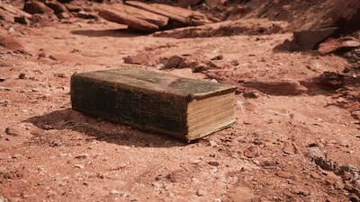 Old Book in Red Rock Desert