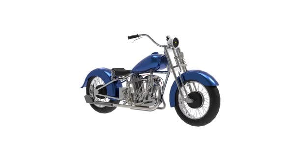 Old-fashioned classic style motorbike